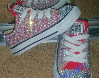 ec899fbca109 Girls Bedazzled Converse