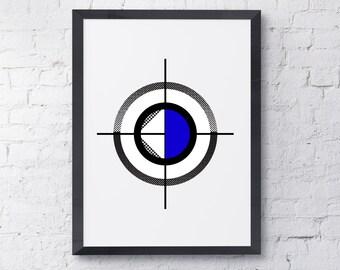 Blue Circles 3 Instant Download/Wall Decor /Modern Wall Art /Contemporary Art / Wall Print / Art Prints / Printable Art /Wall Art Decor