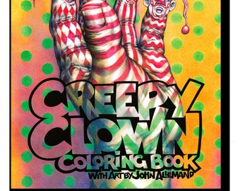 Creepy Clown Coloring Book - Adult