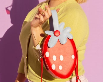 Fresa Flor- Stawberry handbag/crossbody normal size