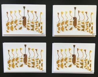 """One - """"Gingko Menorah"""" Card Print (5X7)"""