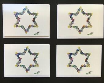 """One - """"Jewish Star"""" Card Print (5X7)"""