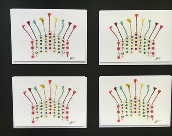 "One - ""Flower Menorah"" Card Print (5X7)"