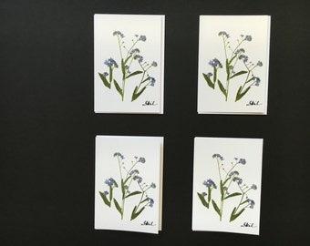 """One - """"Forget-Me-Not"""" Card Print"""