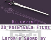 Voltron Inspired Prop Lotor Sword for Cosplay - Blueprints