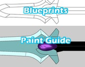 Voltron Prop Keith Galra Dagger for Cosplay - Blueprints