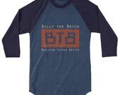 BTB Logo 3/4 sleeve raglan shirt