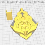 Fire Emblem: Three Houses -  Byleth Belt Buckle/Badge- STL Files for 3D Printing