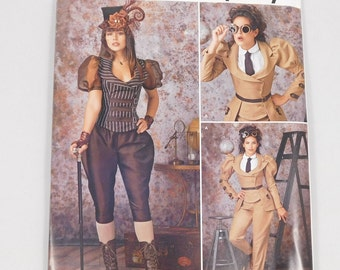 Misses' Steampunk Costume Sewing Pattern, Simplicity W0145 8114, Sizes H5 6 to 14 and R5 14 to 22, Plus Size, Pilot