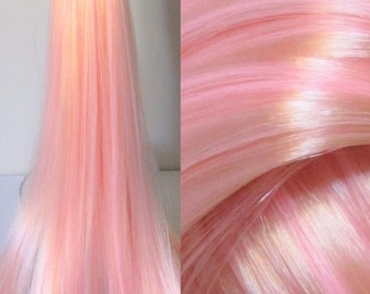 ROCK CHICK Matte Pink Blonde Nylon Hair Blend for Doll Rerooting/Wig Making/OOAK