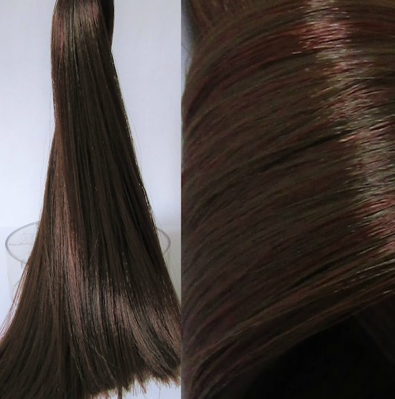 HAZELNUT Brown Saran/Nylon Hybrid Blend For Doll/Pony