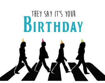 Beatles cards etsy beatles birthday card m4hsunfo