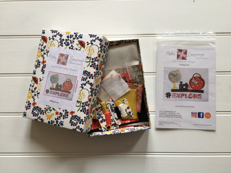 Hashtag Explore Embroidery Kit