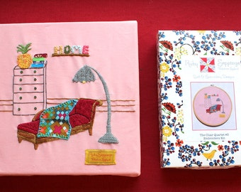 Embroidery Kit - Chair Quartet #3