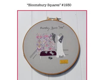 Bloomsbury Squares '1930' Embroidery Pattern (Printed)