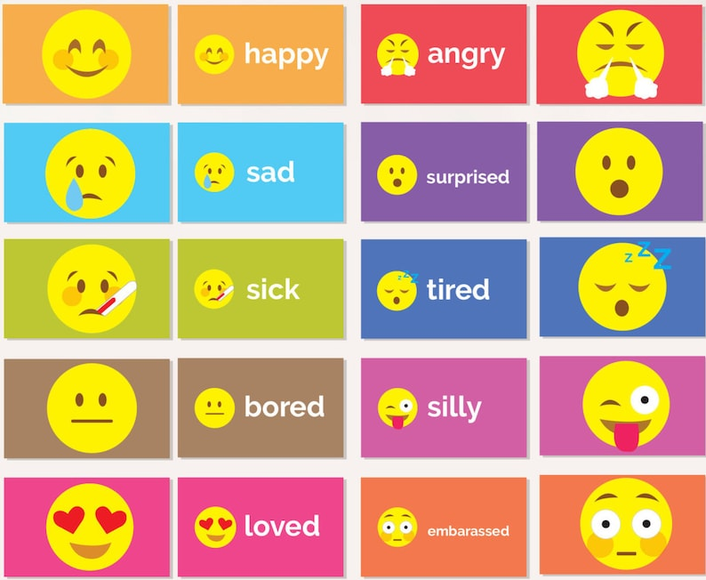 photo relating to Emoji Feelings Printable identify Experience Flash Playing cards - PRINTABLE - Emoji Pupil Flash Playing cards - Essential Higher education Clroom Trainer Mum or dad Supplies