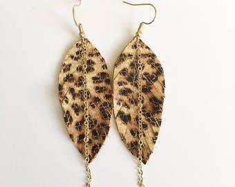 leopard mini earrings