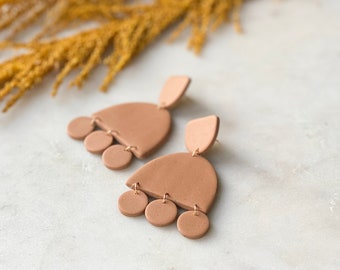 Clay Pendants   muted terracotta