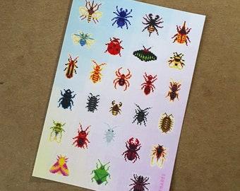 Pixel Bugs Sticker Sheet