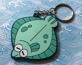 Flounder Vinyl Keychain