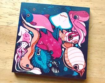 Sea Life Cluster Memo Pad