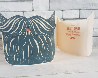 Best Dad Birthday Card For Beard From Daughter Son Father 5 Hair Colours