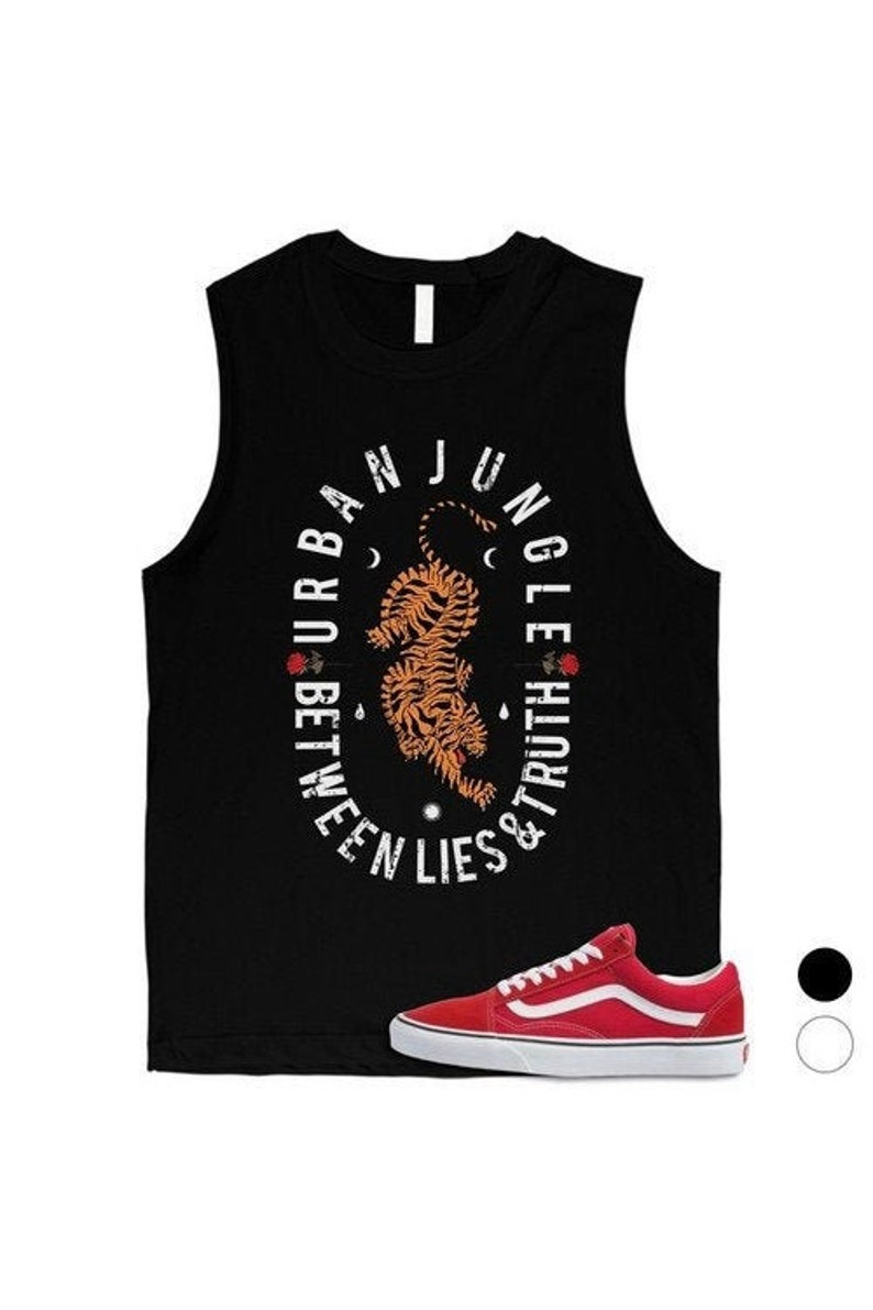 VINTAGE Gifts For Friends And Family Urban Jungle Sleeveless Cute Funny Wild Stylish Animal Flower Graphic Men/'s Muscle Top