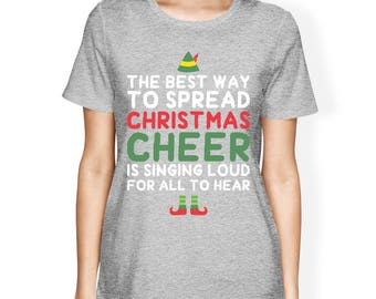 Best Way to Spread Christmas Cheer Women's Tshirt [JCT191]