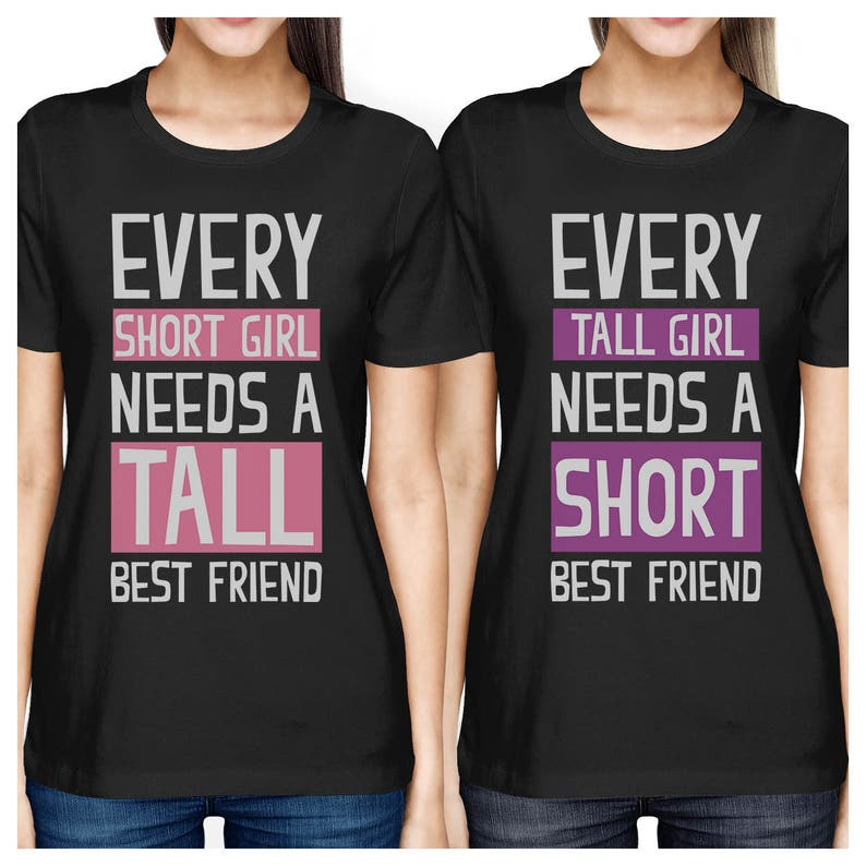 04feef6c1ad4 Best Friend Shirts - Short and Tall Best Friends BFF Matching T-shirts   FT022