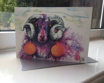 Christmas Sheep 2016 (Pack of 5 Greetings Cards)