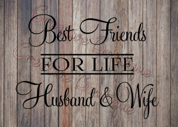 Best Friends For Life Husband And Wife Couple Marriage Marry Etsy