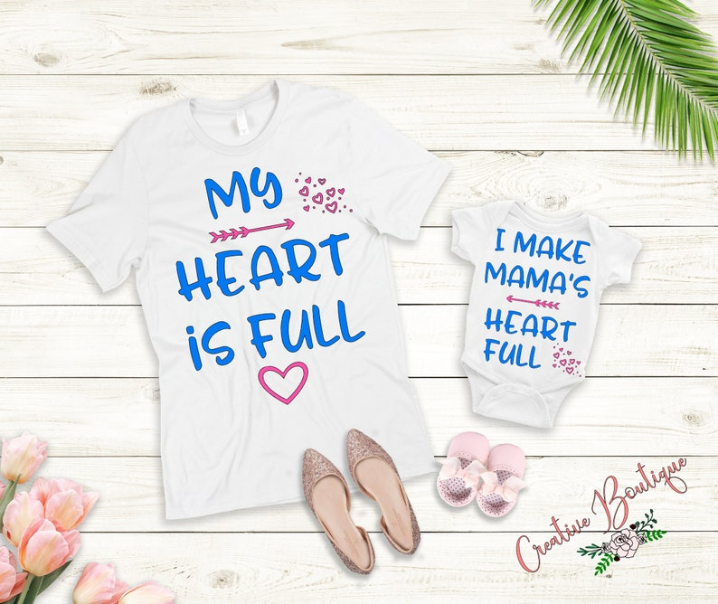 6556edce My heart is full I make matching heart hearts child Dad Daddy | Etsy