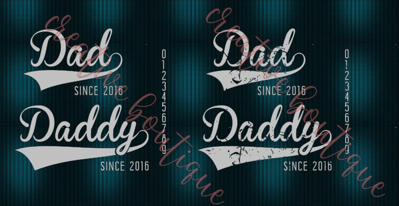 63093f6f6 Dad Daddy Since date 2018 2017 2016 2015 Father Father's | Etsy
