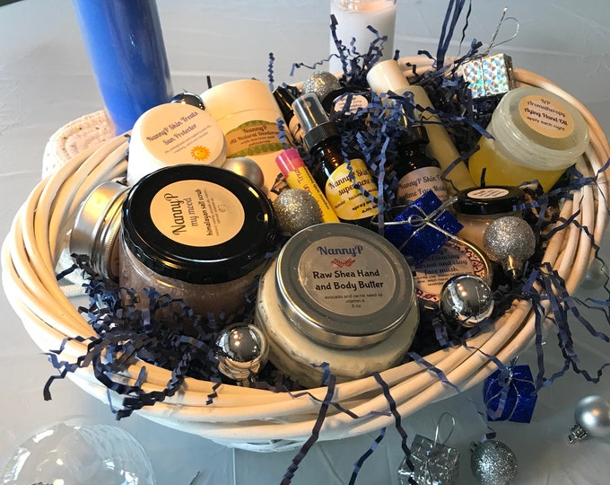 Organic Holiday Skin Care Basket - CERTIFIED AROMATHERAPIST