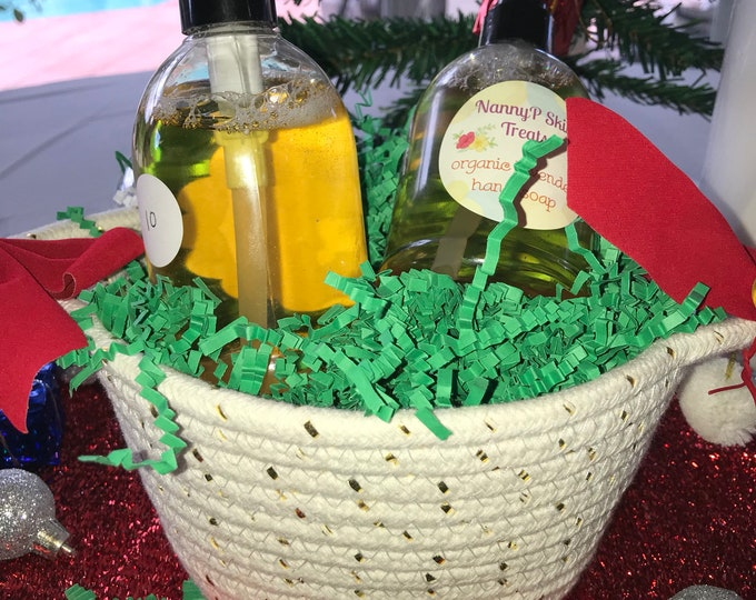 Organic Holiday Spa Gift Baskets - Choice Of 4