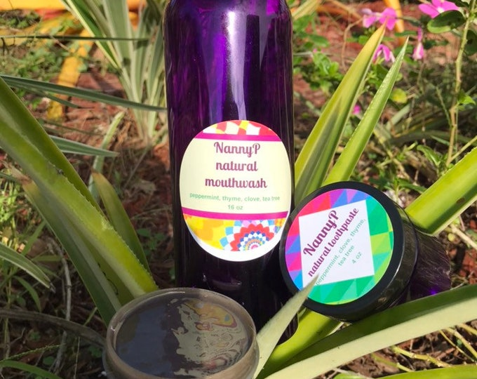Organic Toothpaste With  Clay, Peppermint, Clove And Thyme - Certified Aromatherapist - Best Dental Checkup Promise