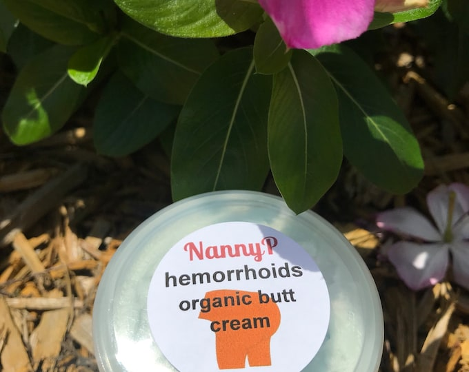 Organic Hemorrhoid Cream With Tea Tree And Lavender - CERTIFIED AROMATHERAPIST
