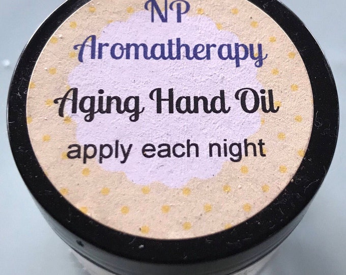 Anti Aging Hand Oil For Skin Spots And Wrinkles - CERTIFIED AROMATHERAPIST