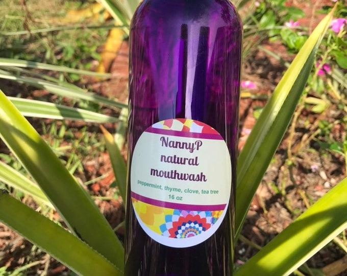 Organic Peppermint, Clove & Tea Tree Mouthwash - CERTIFIED AROMATHERAPIST