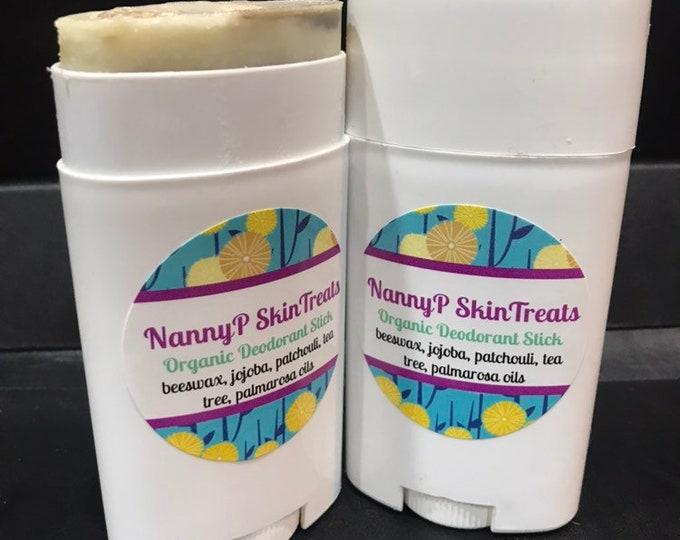 Organic Deodorant Stick - CERTIFIED AROMATHERAPIST