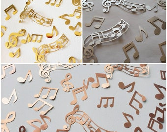 Musical Notes Table Confetti Party Decorations Papercraft Embellishments Crafts