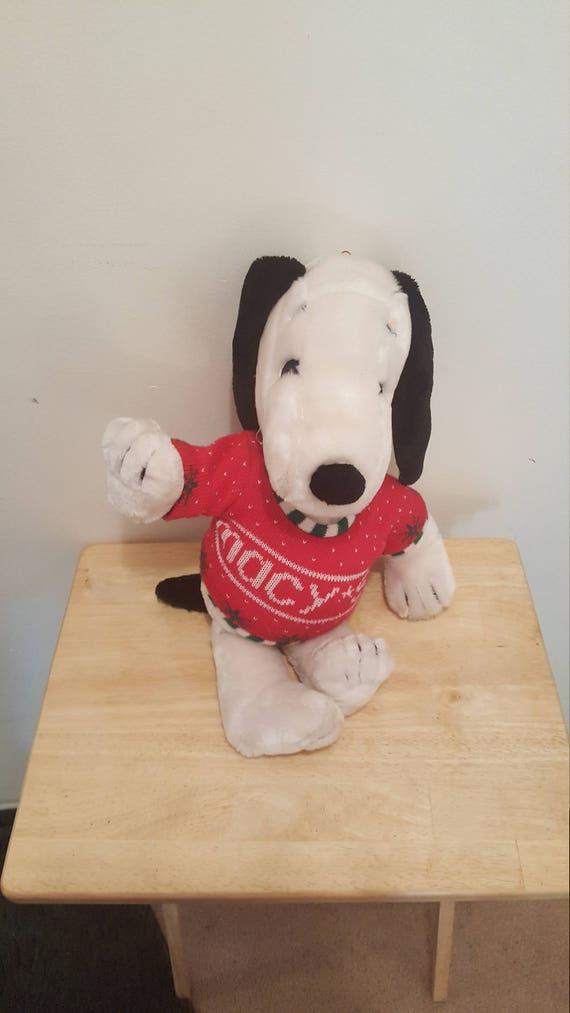 Macys Snoopy Sweater 20 Stuffed Plush Etsy