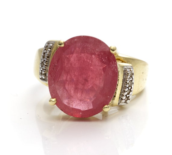 Ruby diamond ring, large ruby ring, unique ruby ri