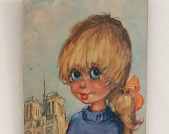 Vintage Big Eye Print Michel T Paris