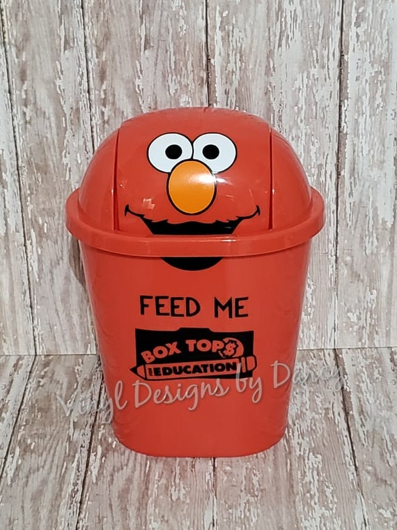 Box Tops For Education Personalized Elmo Trash Can Teacher Gift