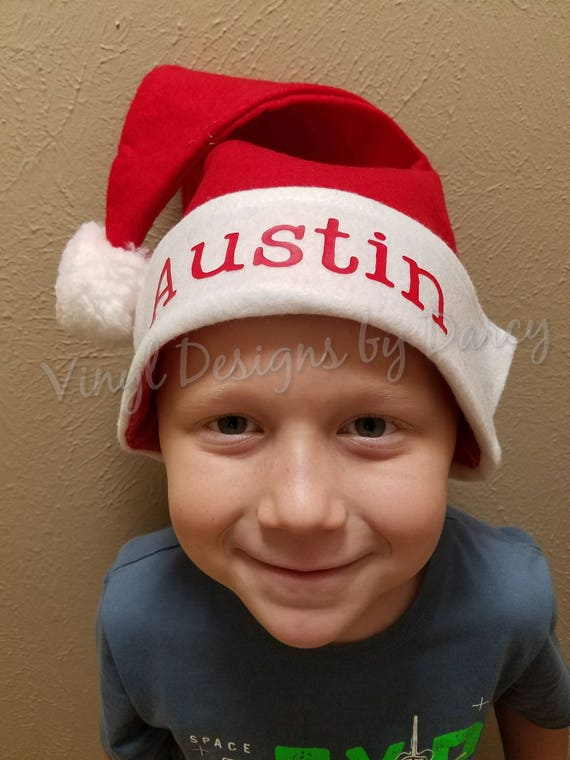 56603353d85d8 Personalized Santa Hat Small Medium Large Christmas