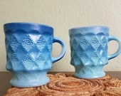 A Set of Two Vintage Anchor Hocking Fire King Oven Proof Cups Coffee Mugs Tea Cups Succulent Planter