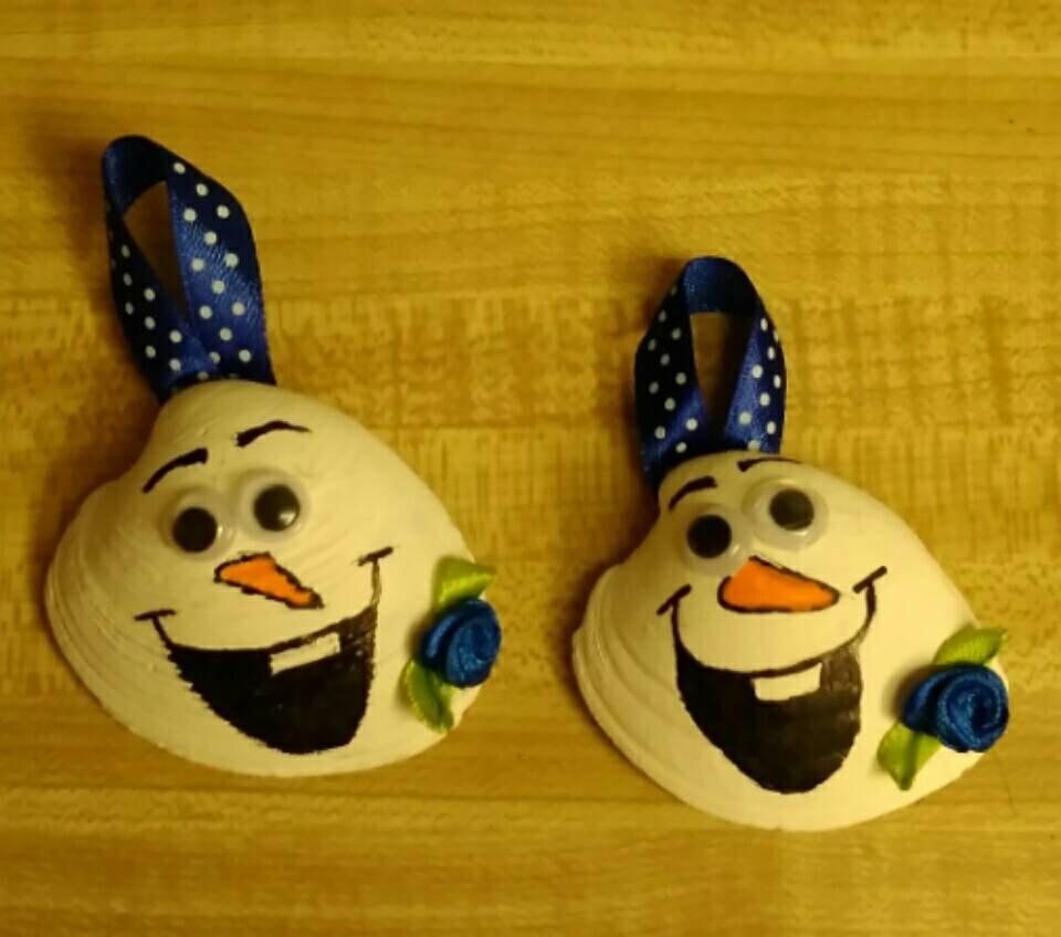 Hand Painted Olaf Christmas Ornament