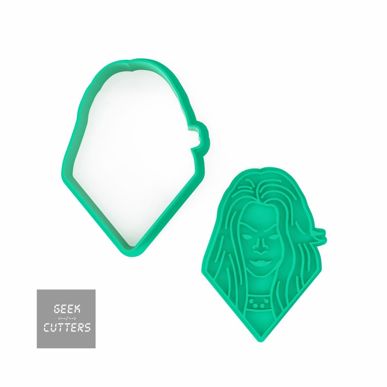 Gamora Cookie Cutter *Dishwasher safe option* 3D Printed Guardians of the Galaxy