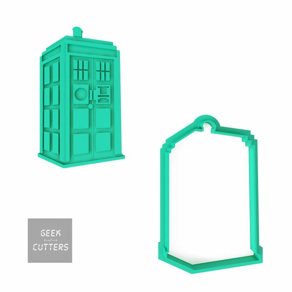 Doctor Who - Tardis Cookie Cutter - *Dishwasher safe option* - 3D Printed